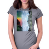 Contemplating the Waterfall Womens Fitted T-Shirt