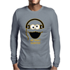 Cookie Monster Cartoon Dubstep Music Dj Mens Long Sleeve T-Shirt