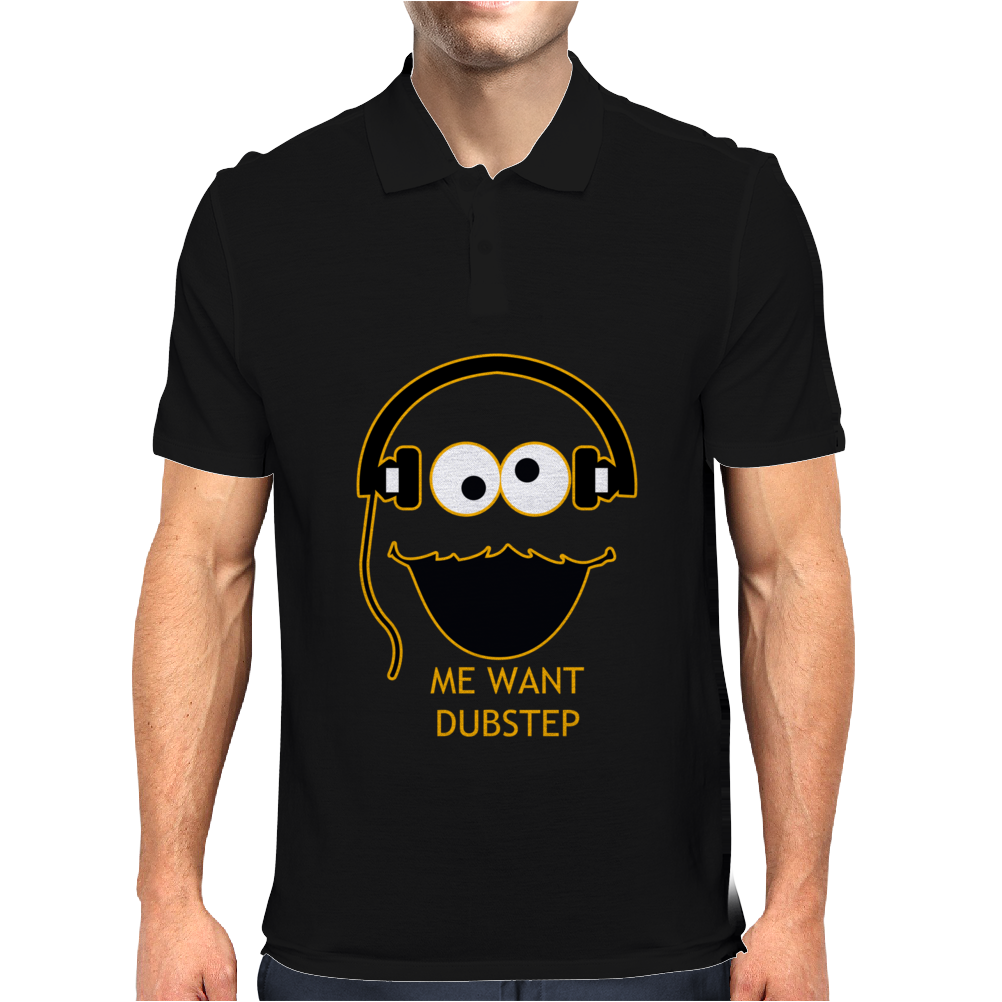 Cookie Monster Cartoon Dubstep Music Dj Mens Polo