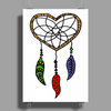 Cool Artistic Dream Catcher Art Poster Print (Portrait)