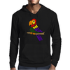 Cool Artistic Fun Parrot Abstract Art Mens Hoodie