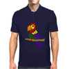Cool Artistic Fun Parrot Abstract Art Mens Polo