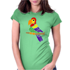 Cool Artistic Fun Parrot Abstract Art Womens Fitted T-Shirt
