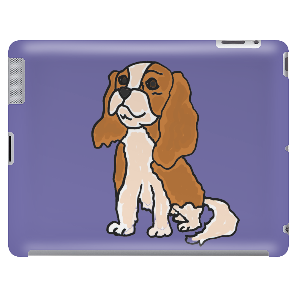 Cool Cavalier King Charles Spaniel Art Tablet (horizontal)