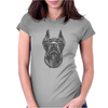 Cool Dog Doberman Wearing Sunglasses & Gold Chain Womens Fitted T-Shirt