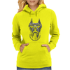Cool Dog Doberman Wearing Sunglasses & Gold Chain Womens Hoodie