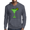 Cool Funky Alligator Swimming in Glass with Margarita Mens Hoodie