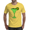 Cool Funky Alligator Swimming in Glass with Margarita Mens T-Shirt