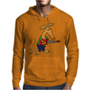 Cool Funky Awesome Aardvark Playing the Electric Guitar Mens Hoodie