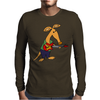 Cool Funky Awesome Aardvark Playing the Electric Guitar Mens Long Sleeve T-Shirt
