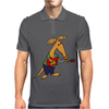 Cool Funky Awesome Aardvark Playing the Electric Guitar Mens Polo