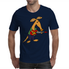 Cool Funky Awesome Aardvark Playing the Electric Guitar Mens T-Shirt