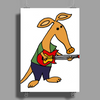 Cool Funky Awesome Aardvark Playing the Electric Guitar Poster Print (Portrait)