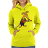 Cool Funky Awesome Aardvark Playing the Electric Guitar Womens Hoodie
