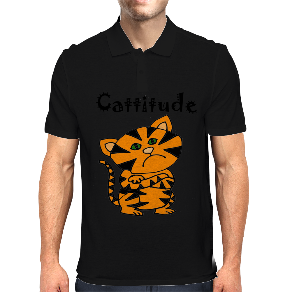 Cool Funny Cat with a Major Attitude Mens Polo