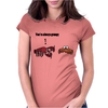 Cool Funny Crabby Crab Beach Cartoon Womens Fitted T-Shirt