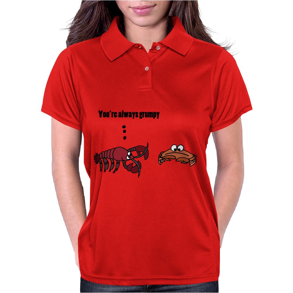 Cool Funny Crabby Crab Beach Cartoon Womens Polo