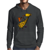 Cool Jazzy Funny Giraffe Playing Saxophone Mens Hoodie