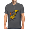 Cool Jazzy Funny Giraffe Playing Saxophone Mens Polo