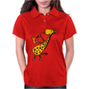 Cool Jazzy Funny Giraffe Playing Saxophone Womens Polo