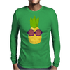 Cool Pineapple Wearing Sunglasses Mens Long Sleeve T-Shirt