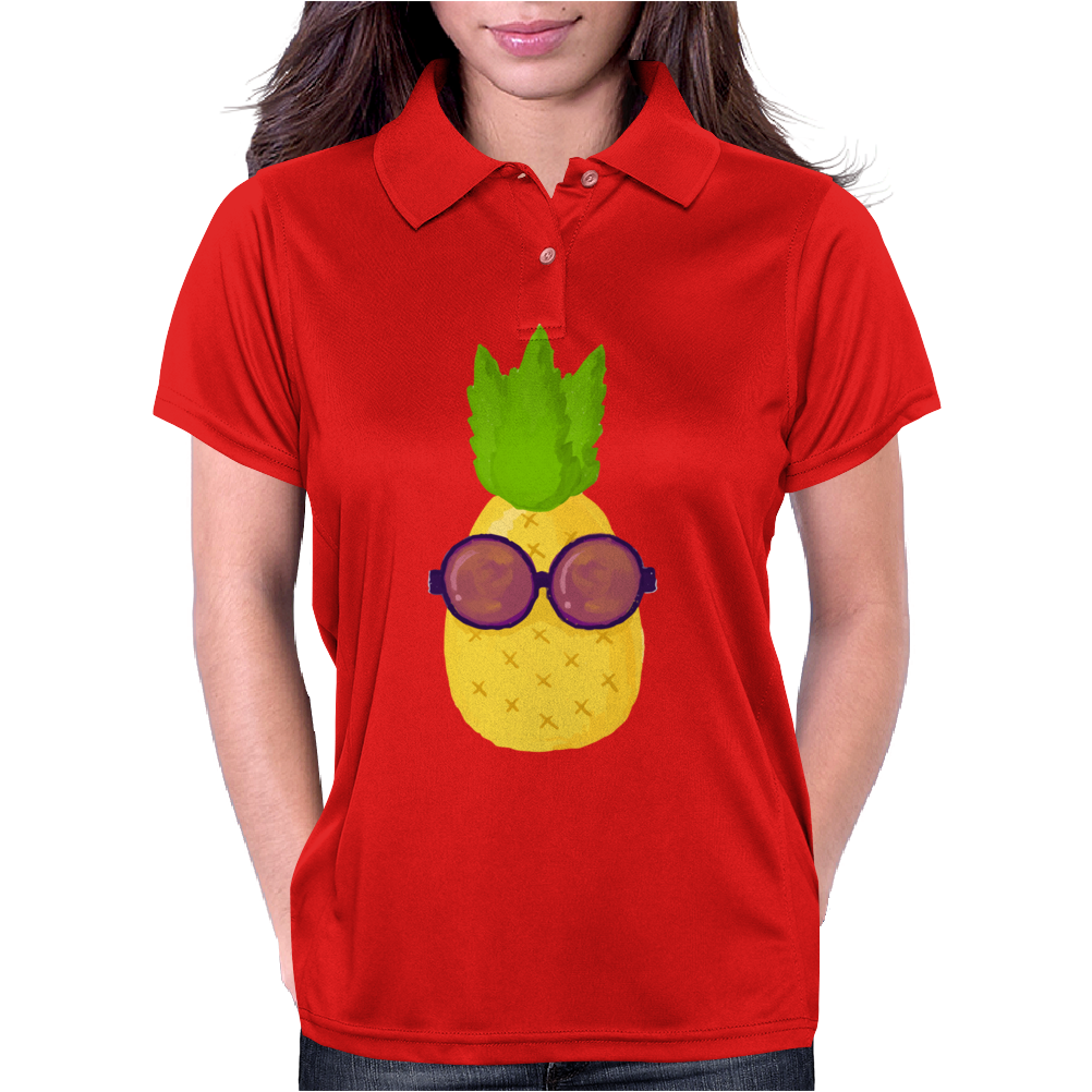 Cool Pineapple Wearing Sunglasses Womens Polo