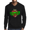 cool strawberry with bright green sunglasses Mens Hoodie