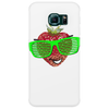 cool strawberry with bright green sunglasses Phone Case