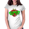 cool strawberry with bright green sunglasses Womens Fitted T-Shirt