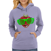 cool strawberry with bright green sunglasses Womens Hoodie
