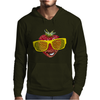 cool strawberry with bright yellow sunglasses Mens Hoodie