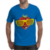 cool strawberry with bright yellow sunglasses Mens T-Shirt