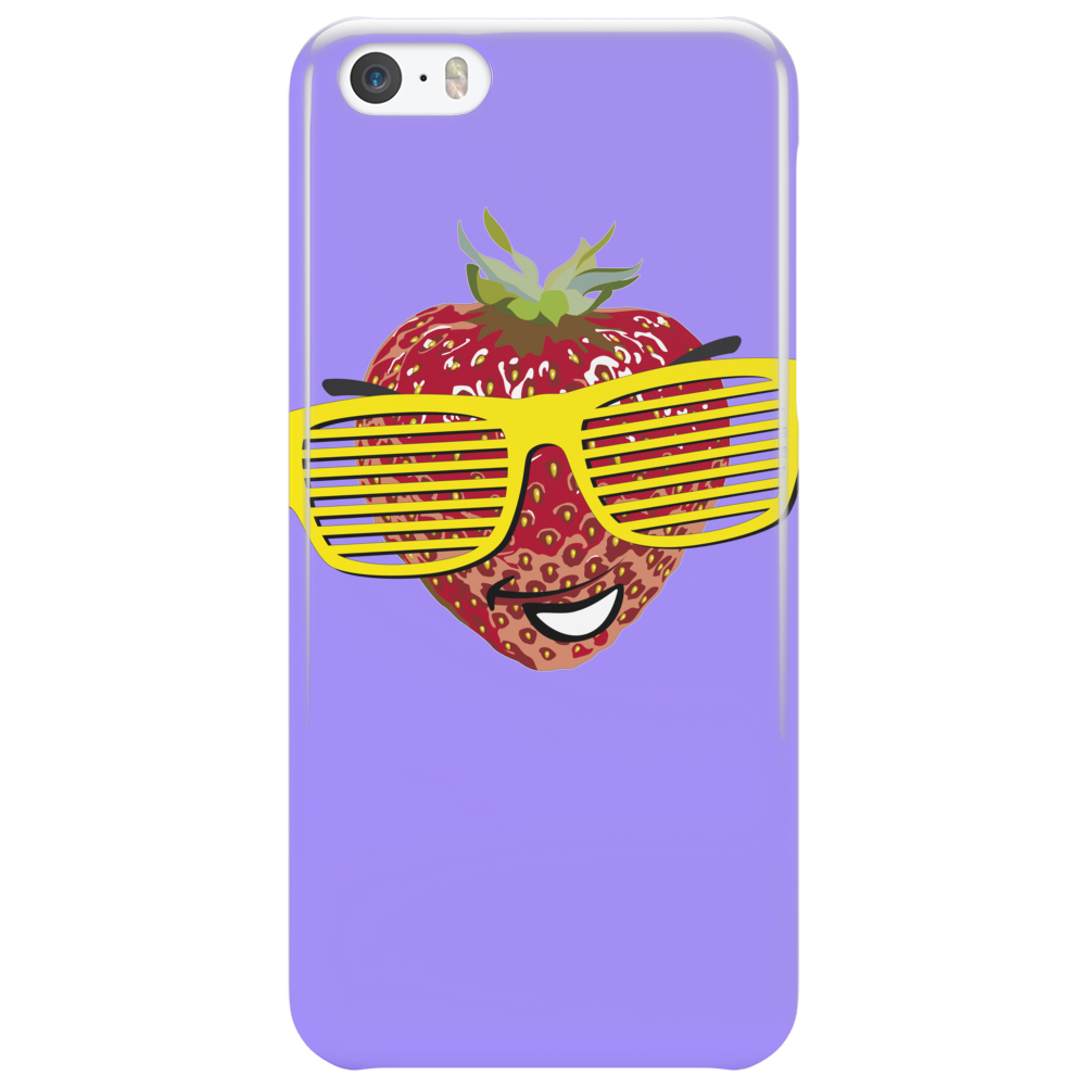 cool strawberry with bright yellow sunglasses Phone Case
