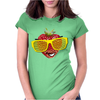 cool strawberry with bright yellow sunglasses Womens Fitted T-Shirt