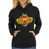 cool strawberry with bright yellow sunglasses Womens Hoodie