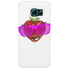 cool strawberry with pink sunglasses Phone Case