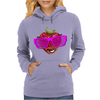 cool strawberry with pink sunglasses Womens Hoodie
