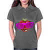 cool strawberry with pink sunglasses Womens Polo