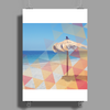 Cool Summer Polygon Poster Print (Portrait)