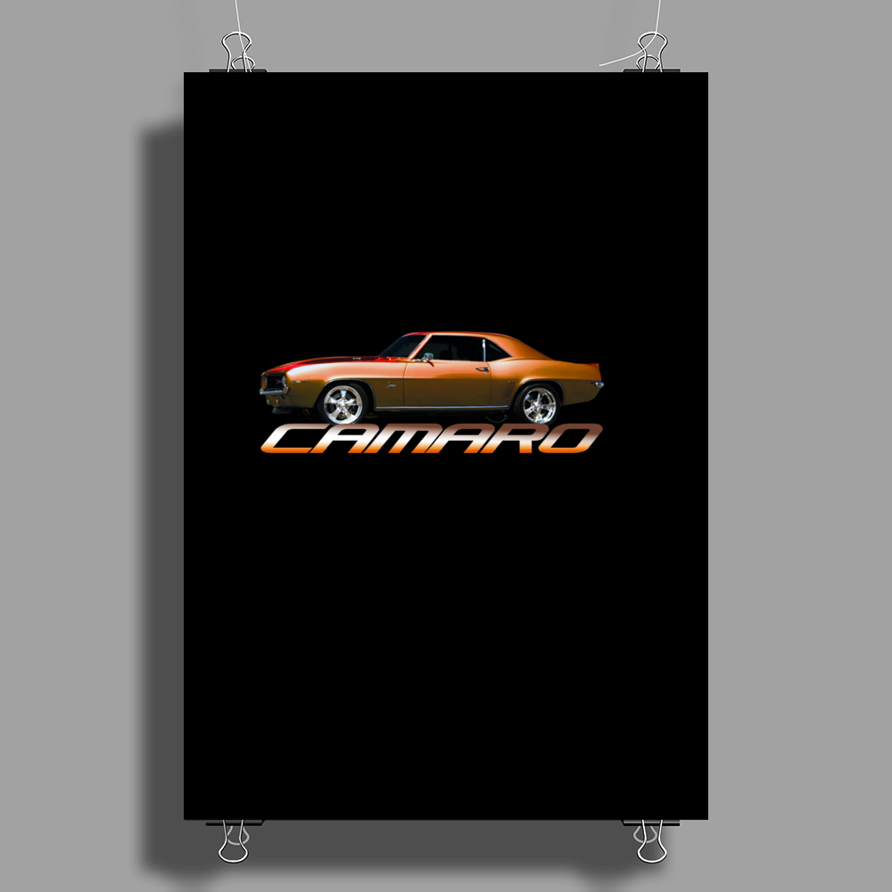 Copper Orange Camaro Z28 1967-68-69 Poster Print (Portrait)
