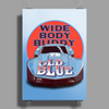 Corvette Old Blue Poster Print (Portrait)