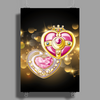 Cosmic Heart Compact - Sailor Moon Crystal III edit. Poster Print (Portrait)