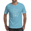 Cosmo + Celeste ( Colorful Cosmological Night Sky Couple in Love Ice Blue ) Mens T-Shirt