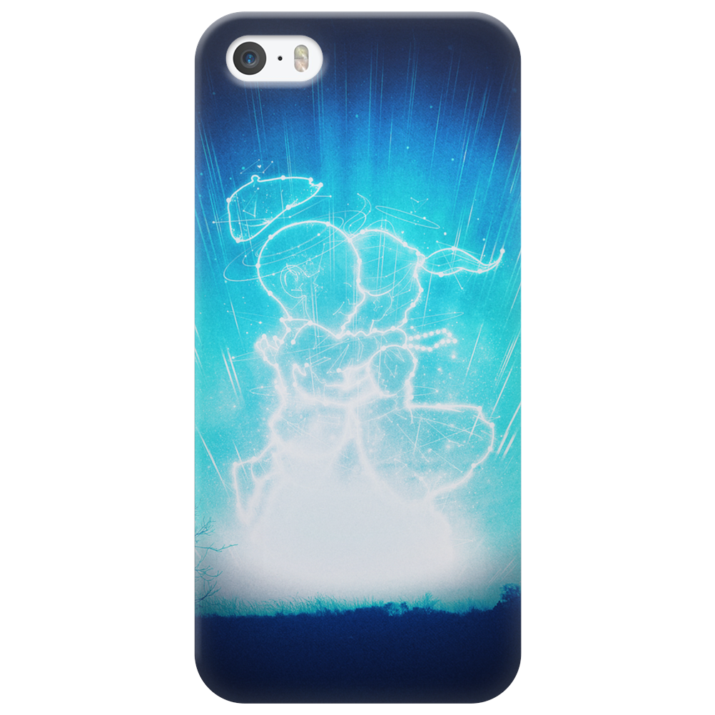 Cosmo + Celeste ( Colorful Cosmological Night Sky Couple in Love Ice Blue ) Phone Case