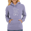 Cosmo + Celeste ( Colorful Cosmological Night Sky Couple in Love Ice Blue ) Womens Hoodie