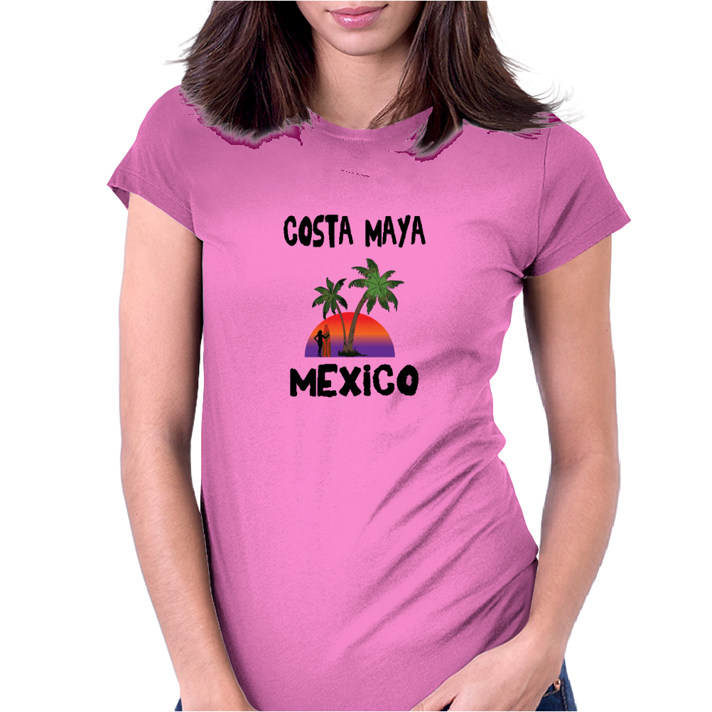 Costa Maya Mexico Womens Fitted T-Shirt