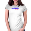 Country Diva - Red & Blue Womens Fitted T-Shirt