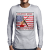 Country Music-Written In Blood Mens Long Sleeve T-Shirt