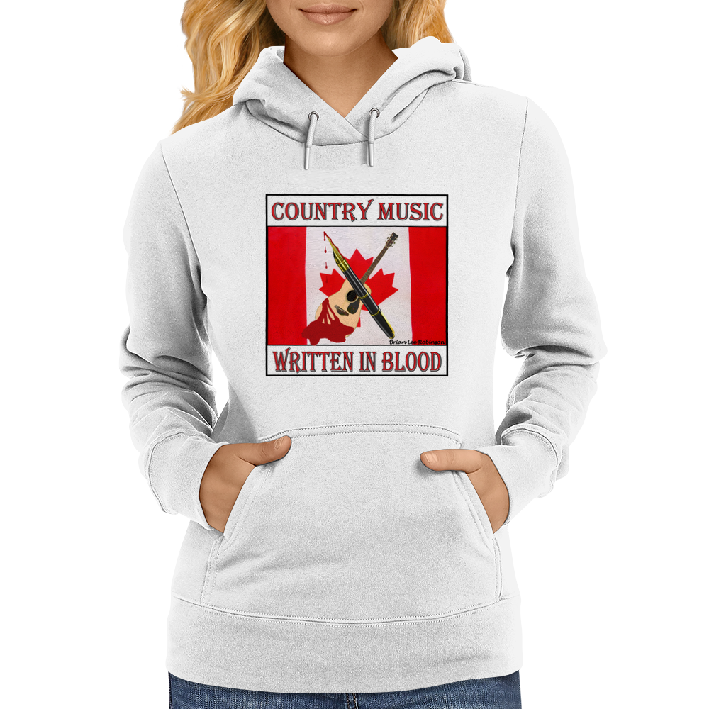 Country Music- Written In Blood Womens Hoodie
