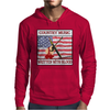 Country Music- Written With Blood Mens Hoodie